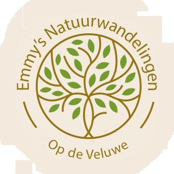 Logo van Emmy's Natuurwandelingen. Met Emmy als gids wandelen op de Veluwe